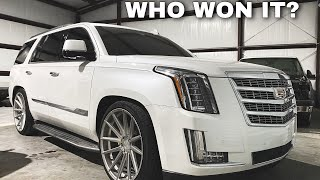 ESCALADE GIVEAWAY WINNER!