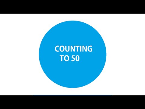 Counting to 50 EYFS And Year 1 National Curriculum HD UK English