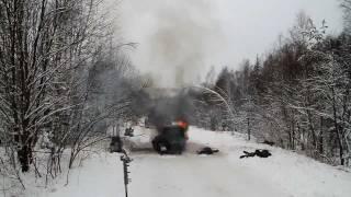 Съёмка взрыва для фильма «Охота на крокодилов»