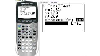 Using the Calculator to find p-values 1-prop-ztest