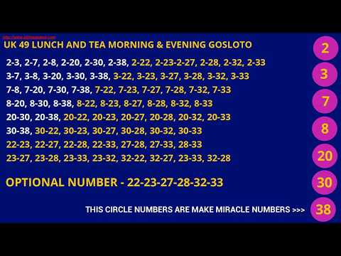 UK49 AND GOSLOTO 100%  PREDICTED LOTTO NUMBERS WIN LOTTERY