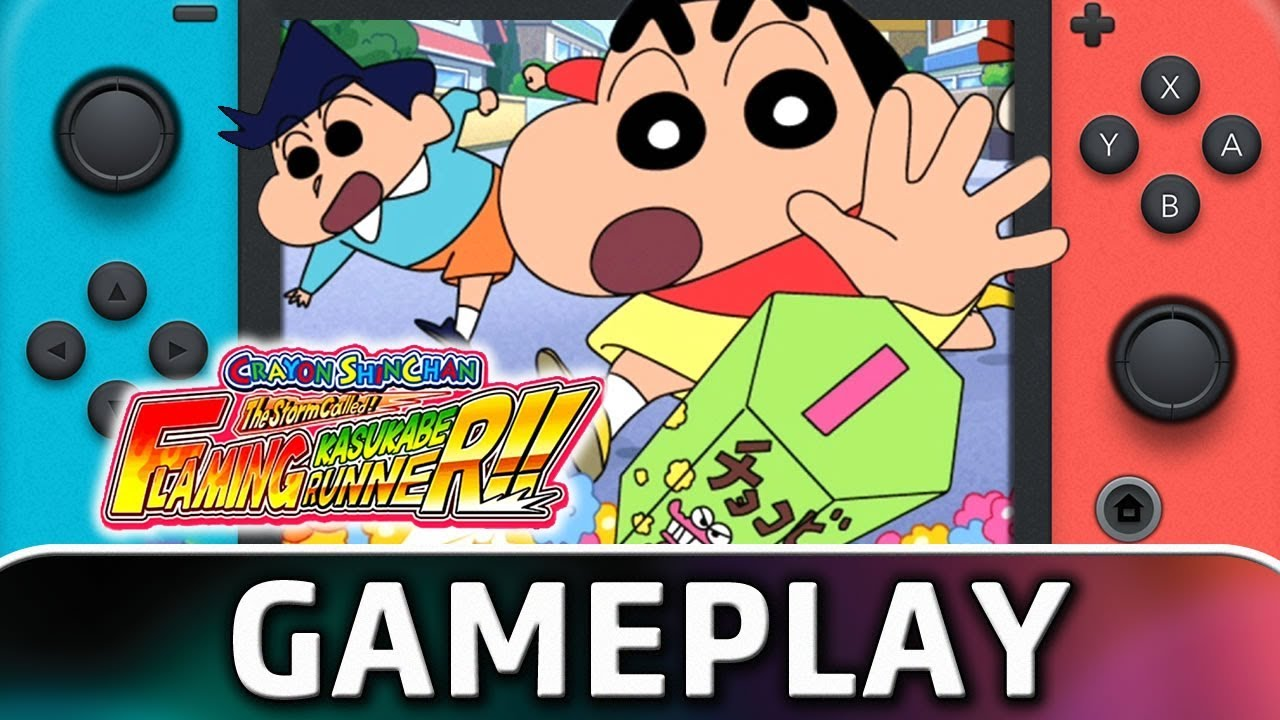 CRAYON SHINCHAN The Storm Called FLAMING KASUKABE RUNNER!! | First 20 Minutes on Switch