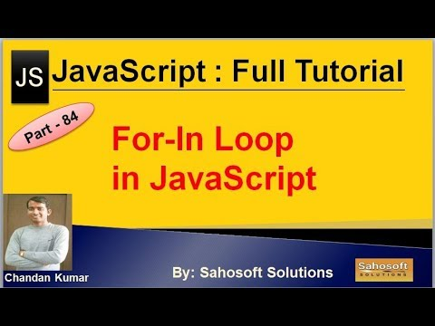 For-in Loop in JavaScript | JavaScript Full Tutorial in Hindi thumbnail