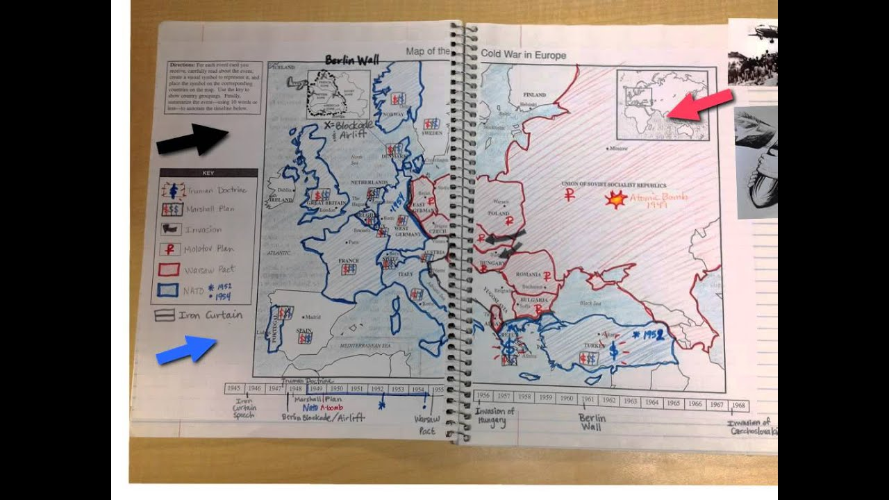 Directions For Cold War Map Of Europe