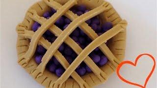 Как лепить Еду. Из пластилина лепим ягодный пирог. Еда для Кукол.