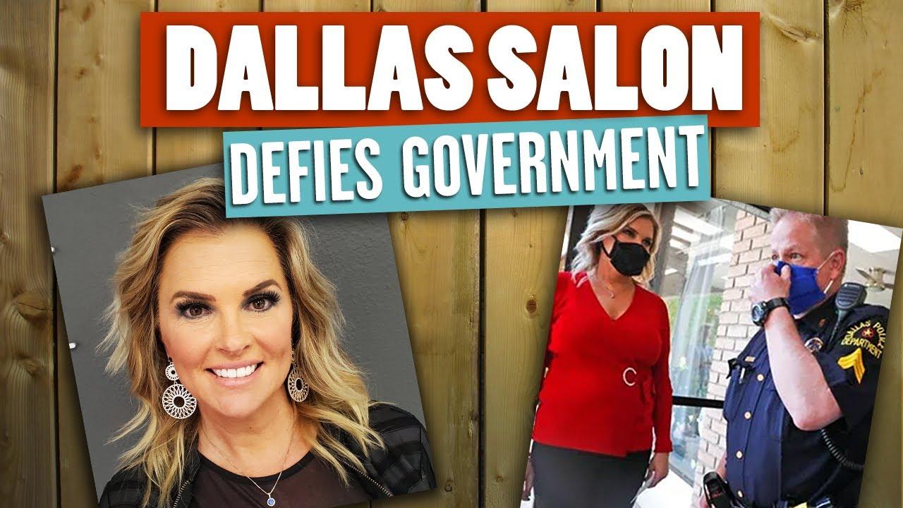 INTERVIEW: Dallas Salon to RE-OPEN Despite City Coronavirus Lockdown, Stay At Home Orders