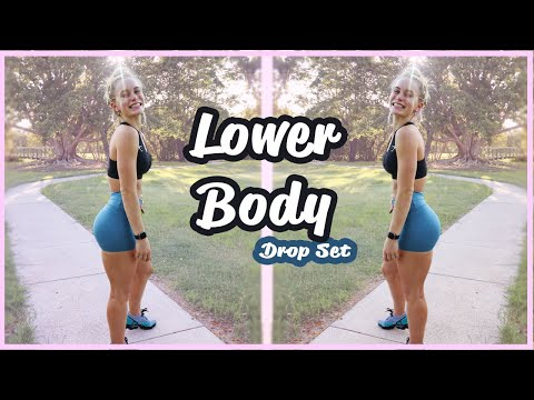 Lower Body - Drop Set Workout (ONLY 3 EXERCISES)