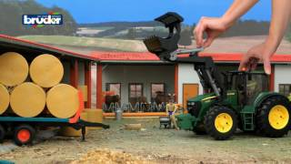 Bruder Toys John Deere tractor 7930 with front loader #09807