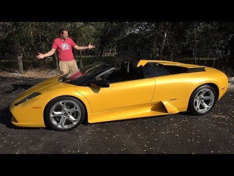 Lamborghini Murcielago Roadster - это самая последняя старомодная Ламба