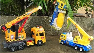 Toy Cars For Kids | Crane truck, Cement truck |Helicopter | Construction Vehicles Toys for Children