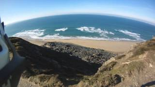 29'' Mountain Biking Cornish North Coast - Riding Along The Cliff Trails - GoPro