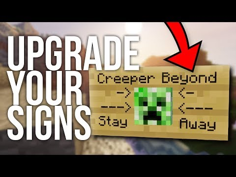 How To Add Blocks And Banners To Signs In Minecraft