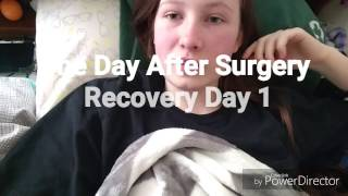 Hip Arthroscopy Day After Surgery Recovery Day