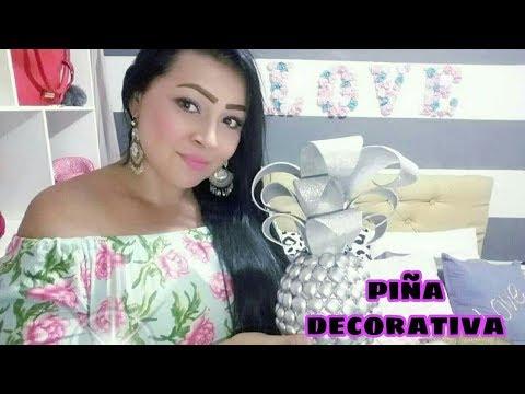 Piña decorativa fácil de  hacer
