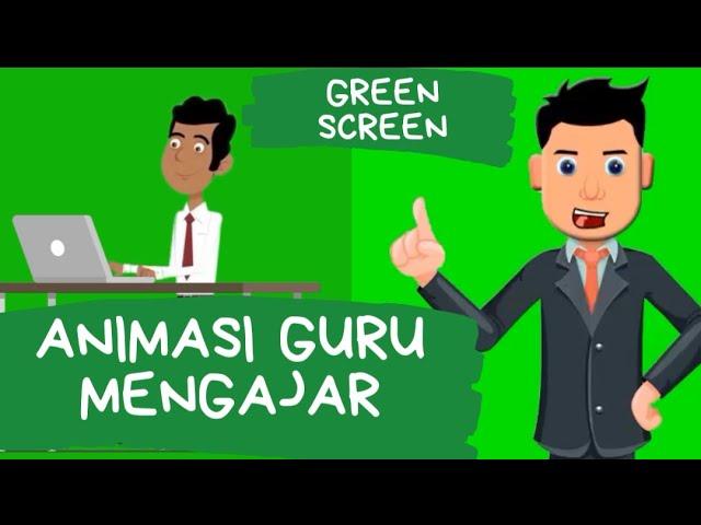 Green Screen Animasi Guru Laki Laki Youtube