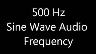 500 Hz Sine Wave Sound Frequency Tone