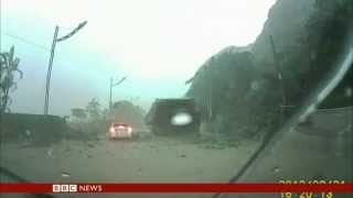 Subscribe to bbc news www./bbcnewswathc this amazing escape for one lucky driver in taiwan who's brush with death was caught on camera. it all tak...