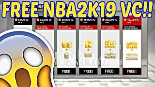 THE BEST WAY TO GET FREE VCs IN NBA 2K19!