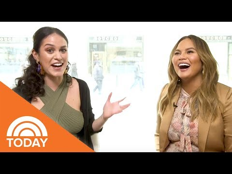 Chrissy Teigen Talks About Her Pregnancy, Self-Designed Diapers And More | Donna Off-Air | TODAY