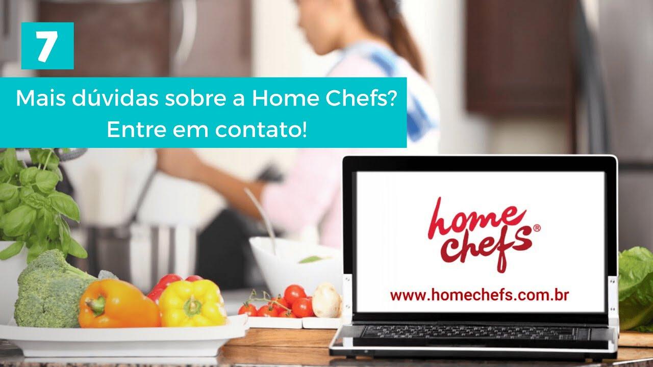 Mais dúvidas sobre a Home Chefs? Entre em contato