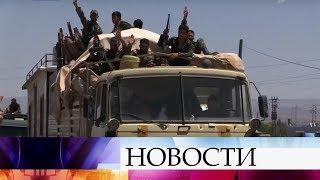 Российские военные доставили гуманитарную помощь на юг Сирии.