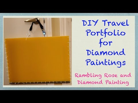 DIY Travel Portfolio for Diamond Painting Canvases