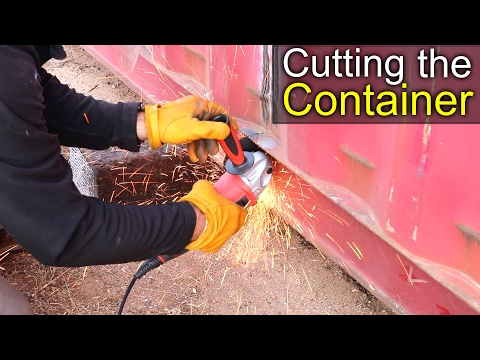Cutting the Container - Container shop project 1