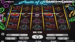 "New online casino slot ""Fruits of Neon"" by Fugaso"