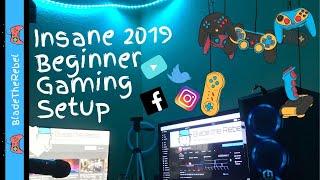 INSANE 2019 BEGINNER GAMING SETUP + STARTING OUT YOUTUBE TIPS!