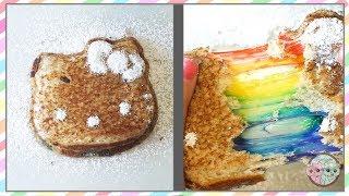 RAINBOW HELLO KITTY GRILLED CHEESE SANDWICH RECIPE, RAINBOW DESSERT IDEAS