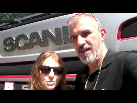 On the truck - meeting Chiodo - 24 5 2015
