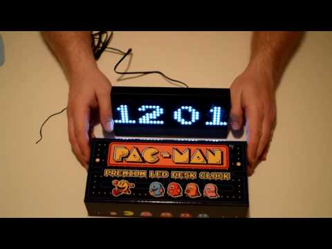 Pac Man Premium LED Clock Unboxing