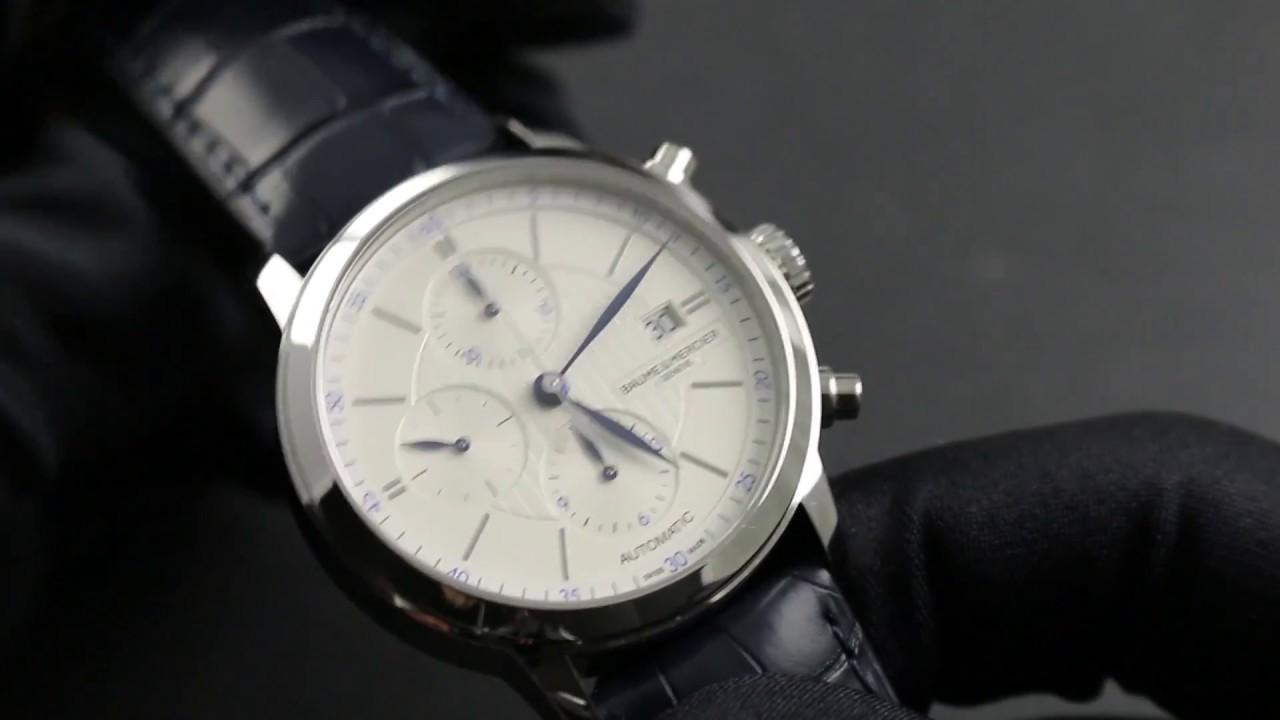 70febf99362 Baume   Mercier Classima Chronograph 10330 Showcase Review - YouTube