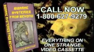 Bizarre Mysteries from Beyond video cassette commercial