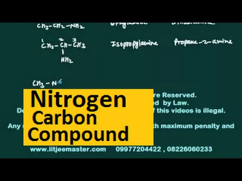 iit jee chemistry video lecture classes | Nitrogen carbon compound
