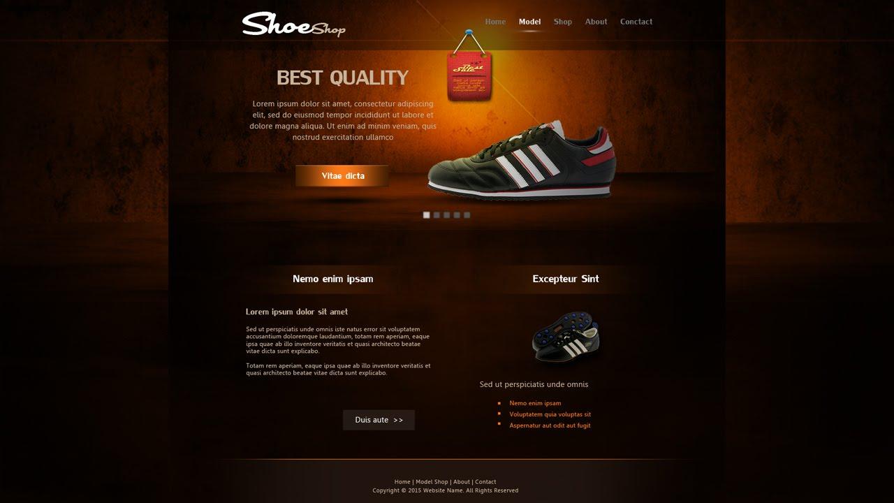Create ShoeShop Web Design In Photoshop