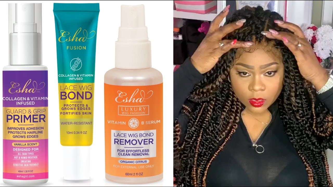 Secure or Remove Wigs with ESHA!!! new PRIMER - BOND - REMOVER demo/review | Ft. Janet Collection