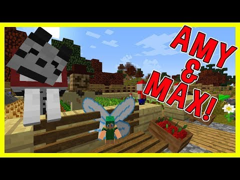 Amy & Max! Ep.50 VEGETABLE PATCH! | Minecraft | Amy Lee33