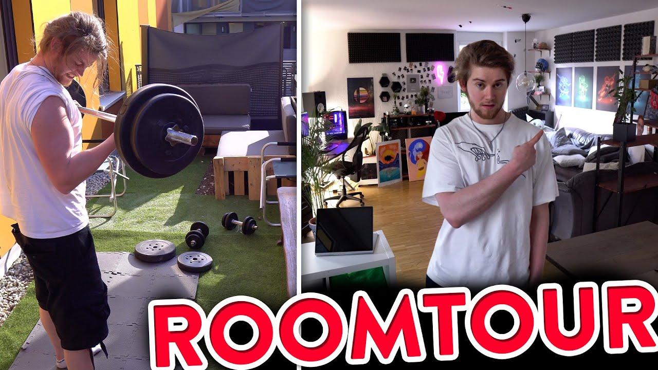 "TJs ""Kunst"" Wohnung + Fitness Garten #Roomtour"