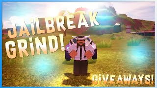 Roblox Jailbreak Live | Grinding all day :D | Anyone can join :)| Giveaway at 10 subs.