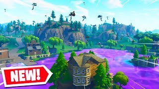 100 PLAYERS LAND *NEW* LOOT LAKE in Fortnite..