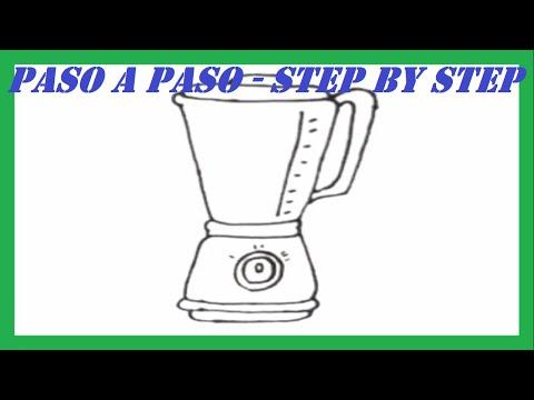 Como Dibujar Una Licuadora Paso A Paso L How To Draw A