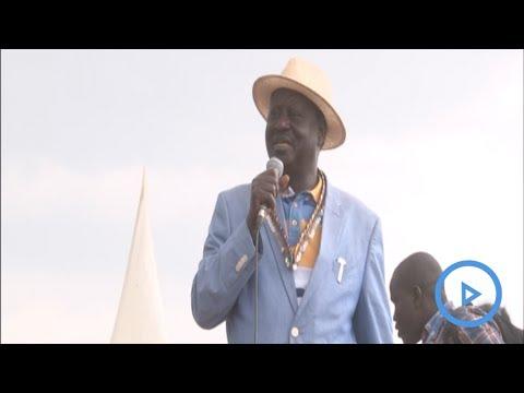 Raila Odinga speech during Nasa rally in Naivasha