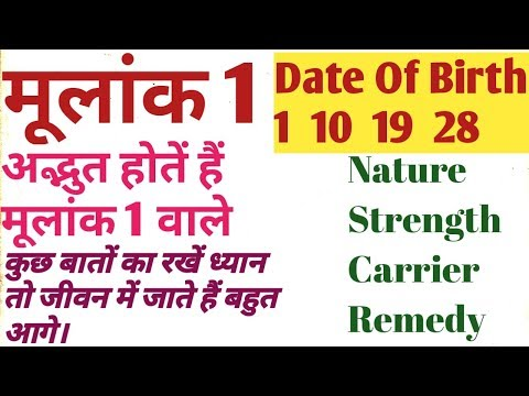 Repeat Numerology number 1 moolank 1ki power || Birth date 1 10 18