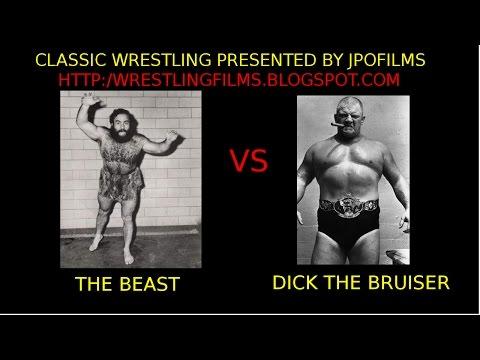 Dick The Bruiser Afflis vs The Beast John Yachetti wild crazy professional wrestling