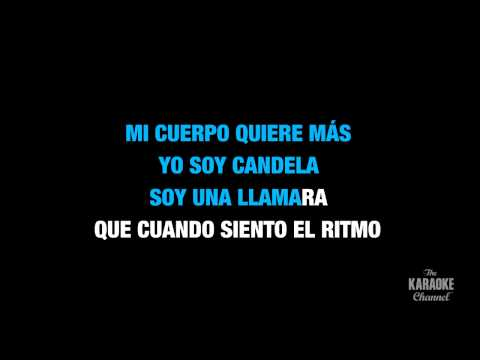 "Candela in the Style of ""Noelia"" karaoke video with lyrics (no lead vocal)"