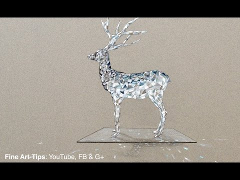 How to Draw a Crystal Deer