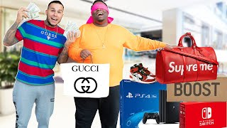 Buying Everything My Best Friend Touches...(spending $10,000 in 60 minutes)