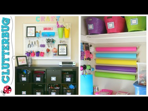 Cluttered to Clean - Craft room declutter and organization ideas on a budget