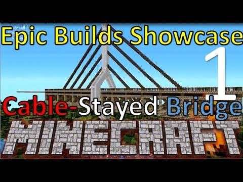 Cable Stayed Bridge Minecraft Epic Builds Showcase #1